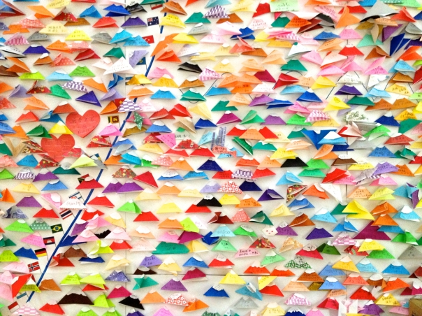 Tourist wall at Mount Fuji Museum